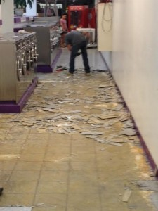 Tile Removal Work